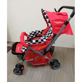 Sweet Heart Paris ST50 Stroller (Red) with 8pcs Wheels and Reversible Handlebar