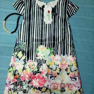 Dress mitun free kalung