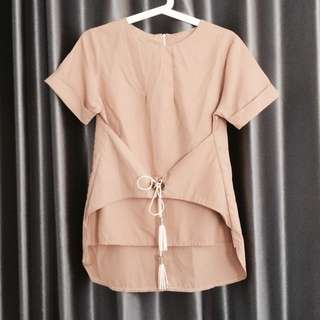 Nude Blouse Top