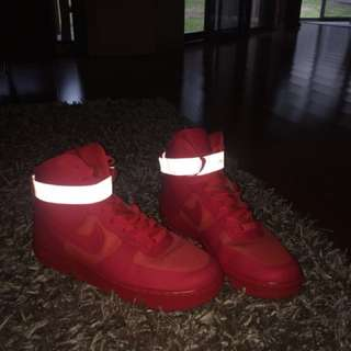 RARE Nike Air Force 1 red October color way