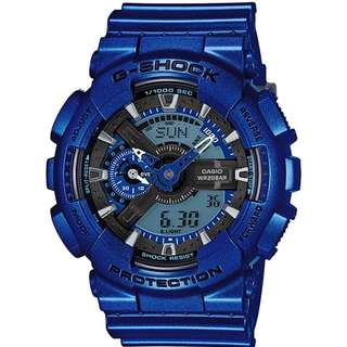 Casio G Shock * GA110NM-2A Neo Metallic Blue Shine Gshock