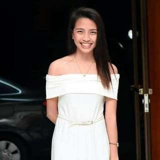 Offshoulder White Dress