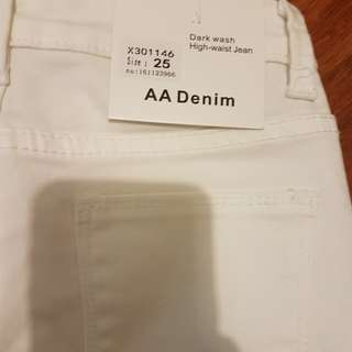 American apparel white skinny jeans 25 7