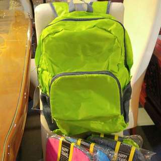 Green Backpack! Foldable - 4 Colors!