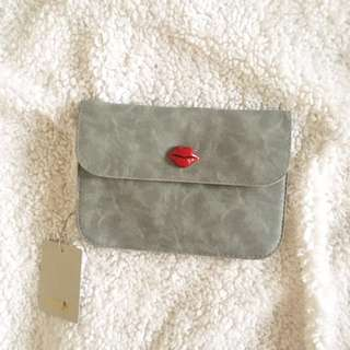 CLN Gray Marble Pouch