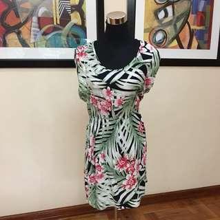 Mango tropical cotton dress