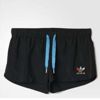 Adidas 3 stripe slim black Running Shorts