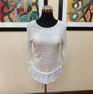 Stradivarius knitted 3/4 blouse