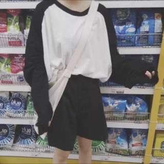 [孬出清]微瑕疵超寬鬆大碼百搭純棉質感棒球上衣