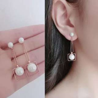Pearl Square Stylish fashion earring ear drop