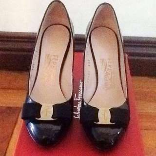 Authentic Salvatore Ferragamo black shoes