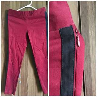 Red Pants with Black Stripes