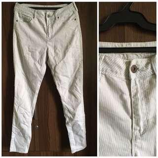 Bullhead White Denim Pants