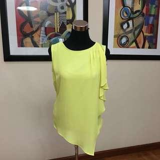 Debenhams Principle yellow chiffon blouse