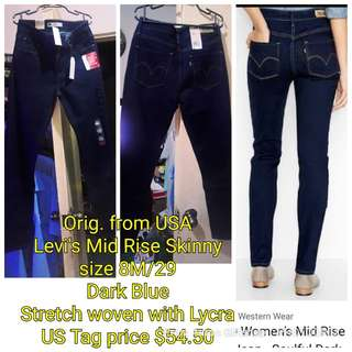 """BNwT Levi's 👖 from USA 524 Mid Rise Skinny size 29"""" only"""