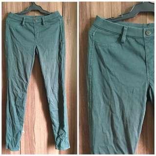 Dark Green Stretch Pants
