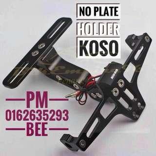 No plate holder