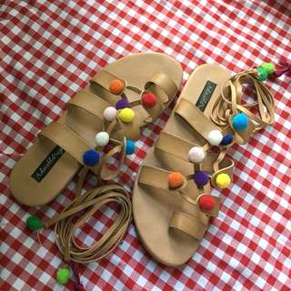 Adorable Projects Pom Pom Sandals
