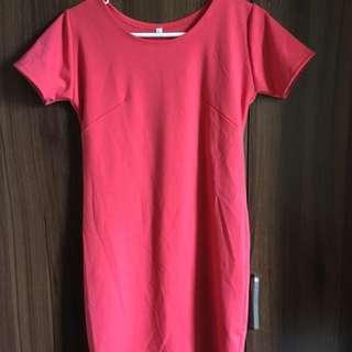 Salmon Pink Short Dress