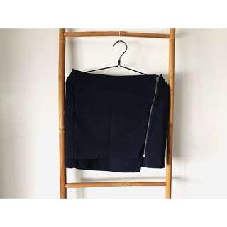 H&M blue office skirt