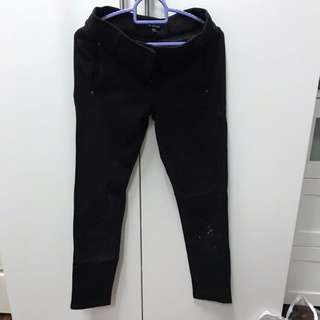 Warehouse black skinny pants