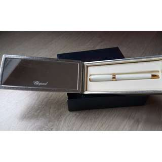 "Chopard ""Vivace"" Ball Point Pen Resin White / Yellow Gold - 95013-0127 蕭邦原子筆"