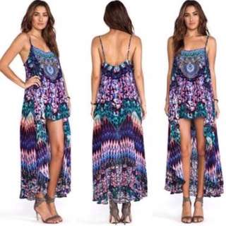 Camilla Franks Rise And Unveil Mini Dress With Overlay Size 2