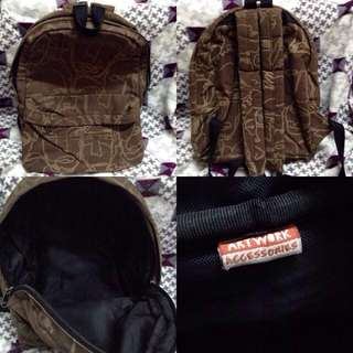 Artwork Corduroy Backpack Bag