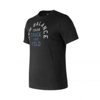 🚚 Newbalance 印花短袖T恤 黑