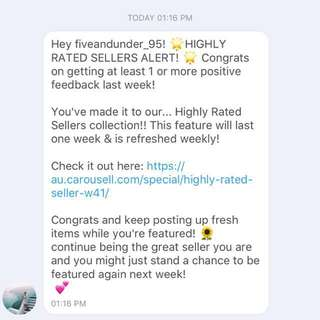 Highly Rated Seller 💕 - Week 41