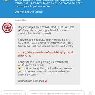 13th😍❤ Thank you Carousell!!!❤❤❤💋