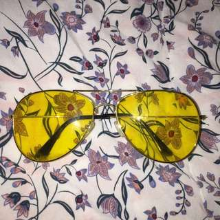 Vintage yellow glasses