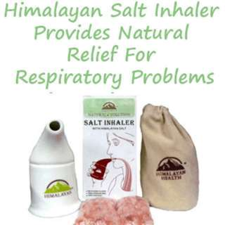 Natural Solutions Himalayan Pink Rock Salt Inhaler for Respiratory Aid - From 🇺🇸 Best solution for snoring , sinus ,asthma problem