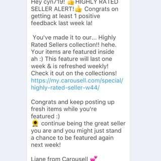 Week 44 - Highly rated seller