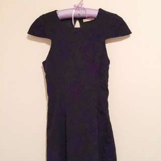 Black Dress With Purple Devoré Velvet
