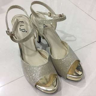 Heels FLD Gold Size 37