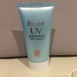 Biore Japan water gel sunscreen