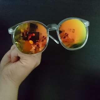 透明鏡框太陽眼鏡墨鏡 鏡片可拆