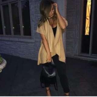 Mendocino M Boutique 8 Way Sweater Vest / Scarf Camel