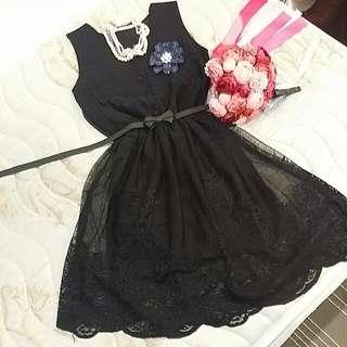 全新 S~M號 泰國品牌 厚磅蕾絲 洋裝