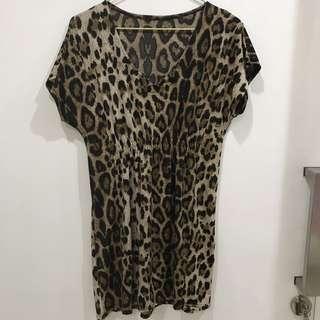 Leopard tops atasan sz M