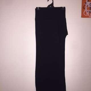 Black skirt long