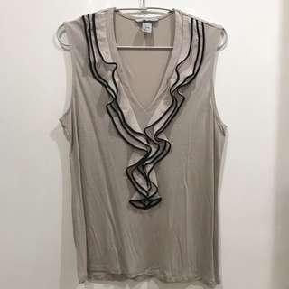 H&M beige tops atasan sz L