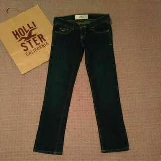 Hollister 低腰 窄管 九分 牛仔褲 九成新 24