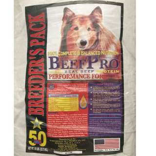 Beef Pro dog food (adult and puppy)