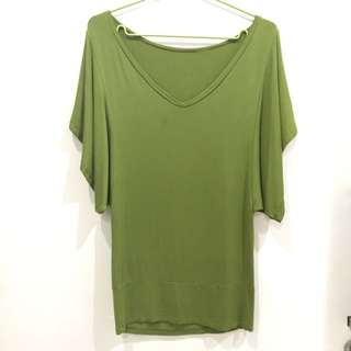 Green tops atasan sz M
