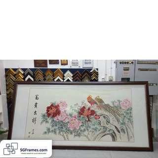 Chinese Rice Paper Framing & Art work