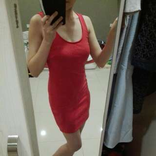(free pos)kitschen basic bodycon red dress/CNY dress/christmas