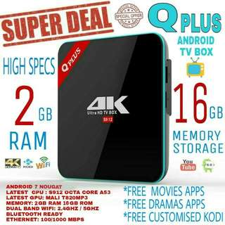 QPLUS ANDROID TV BOX PACKAGE