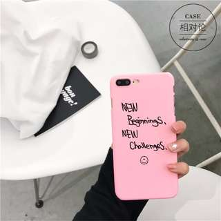GD同款手機殼iPhone7 Plus蘋果 粉色 硬殼 全新